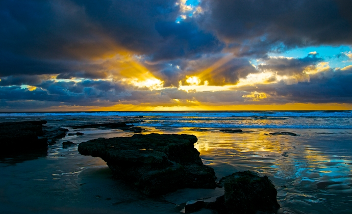San Diego Coast after a Storm