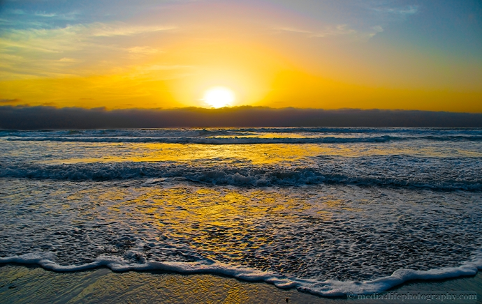 Sunset from Solana Beach, California