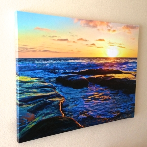 This is an example how a canvas print looks. This is a 24 x 32 fully wrapped canvas.