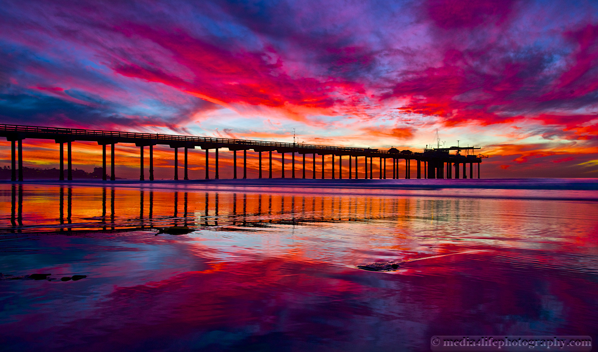 Scripps Pier | Media 4 Life Photography Pacific Ocean Waves