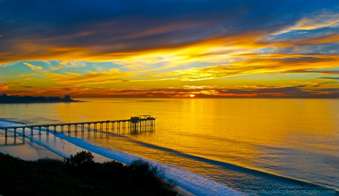 Overlooking the Scripps Pier and La Jolla Shores